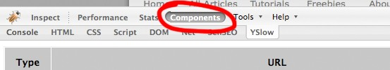 Components tab.